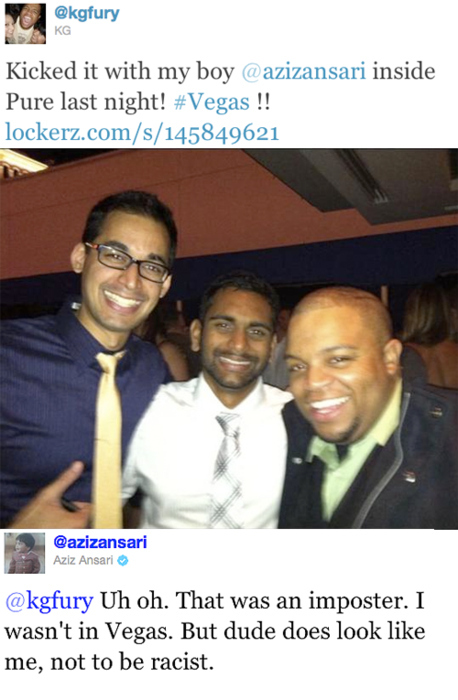 Kicked It In Vegas With Aziz Ansari Last Night