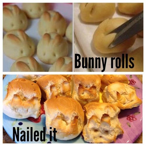 Pinterest Bunny Rolls
