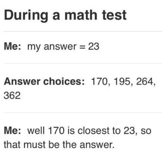 Me During A Math Test