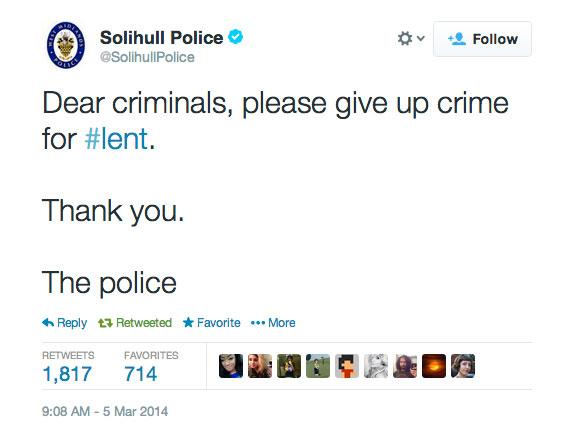 Best Police Twitter Update