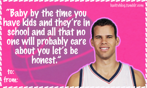 Kris Humphries Best Valentines Day Card Ever