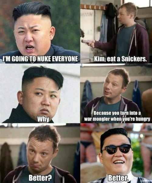 Eat A Snickers, Kim Jong-Un