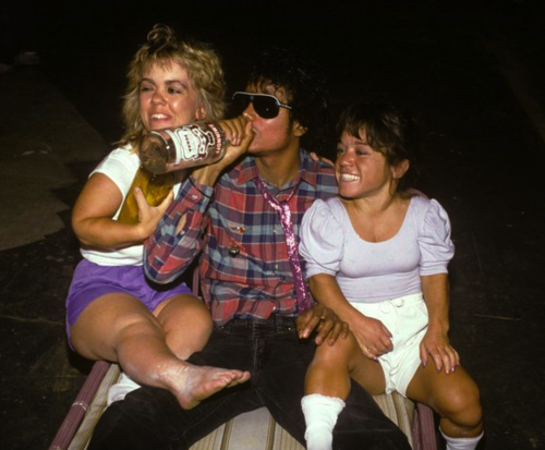 Michael Jackson Chugging Vodka With Little People