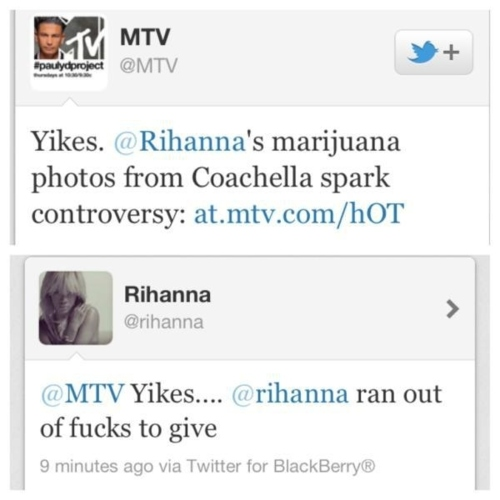 Rihanna's Best Tweet Ever