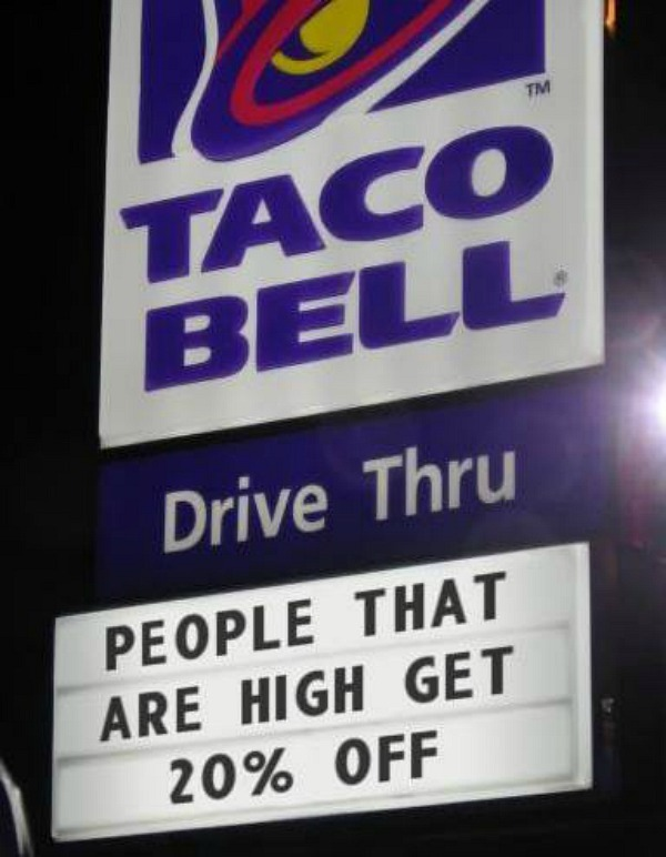 About F*cking Time, Taco Bell