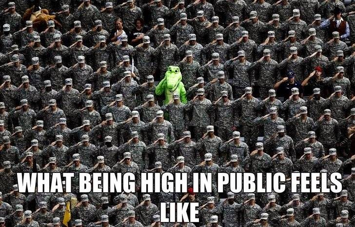Being High In Public