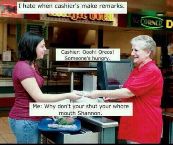When Cashiers Make Comments