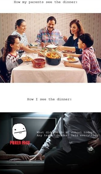 How My Parents See Dinner Time